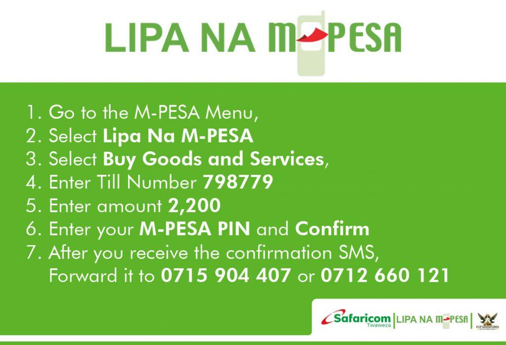 Lipa na Mpesa Procedure for Mt. Kenya Trip