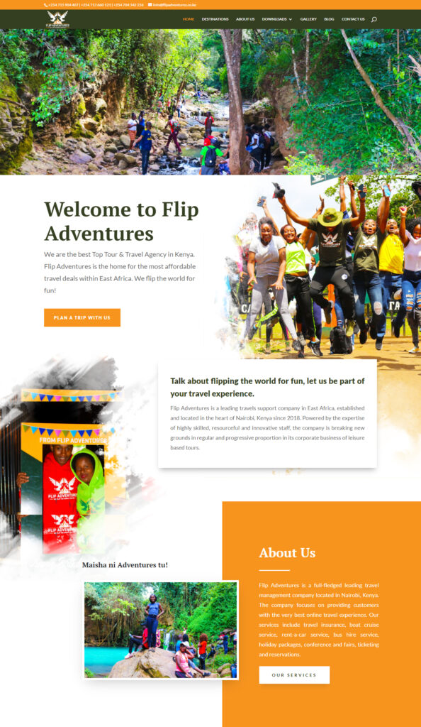 Flip Adventures Web Design in Kenya 1