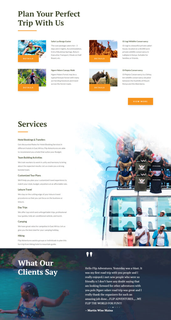 Flip Adventures Web Design in Kenya 2
