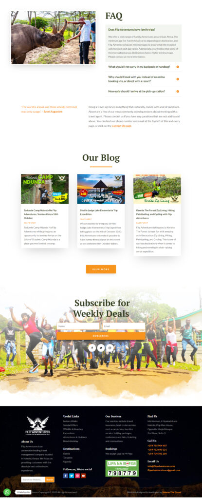 Flip Adventures Web Design in Kenya 3