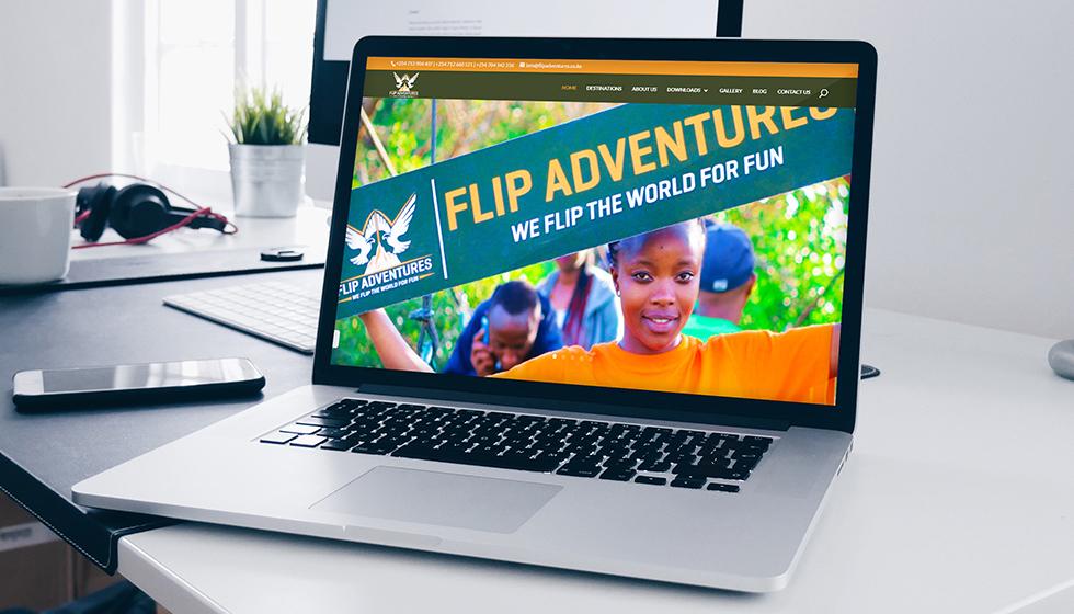 Flip Adventures Website Design and Development