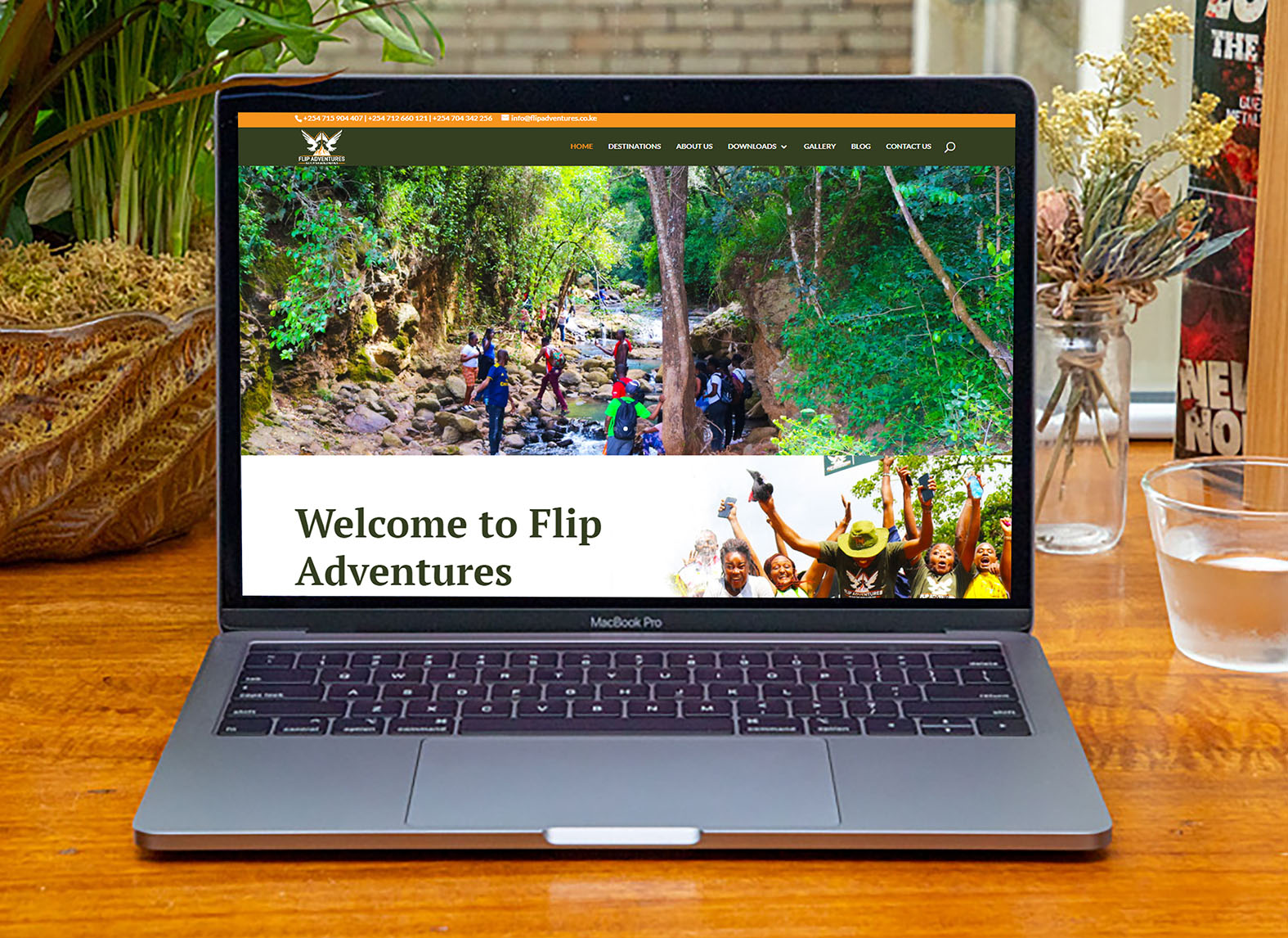 Flip Adventures Website Design in Kenya